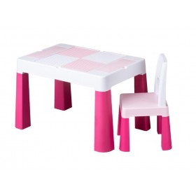Столик со стульчиком Tega Baby MULTIFUN розовый