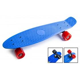 Пенні борд Стандарт 22 (Penny Board Classic) синій з чорними колесами