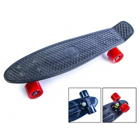 Пенні борд Стандарт 22 (Penny Board Classic) чорний з червоними колесами