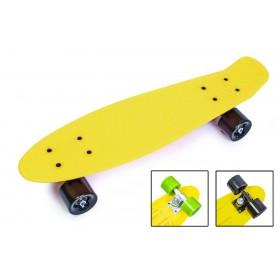 Пенни борд Стандарт 22 (Penny Board Classic) желтый с черными колесами