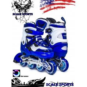 Раздвижные роликовые коньки ScaleSport LF 967 (29-33), синие