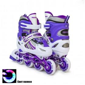 Раздвижные роликовые коньки Power Champs 29-33, фиолетовые