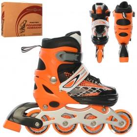 Раздвижные роликовые коньки PROFI A 4140-S (31-34, S) оранжевые