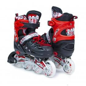 Раздвижные роликовые коньки ScaleSport 38-41, красные