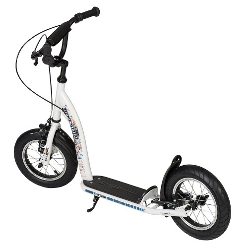 Двухколесный самокат BikeStar Kids Kick Scooter 12 белый