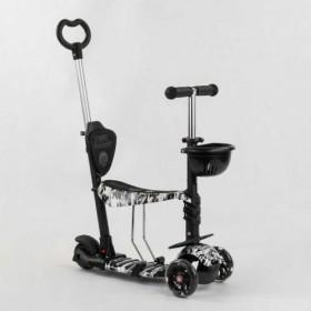 Трехколесный самокат Best Scooter 5 в 1 print 24501 черный