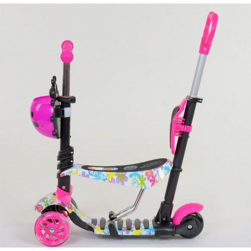 Трехколесный самокат Best Scooter 5 в 1 Ladybag print 62310 розовый