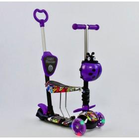 Трехколесный самокат Best Scooter 5 в 1 Ladybag print 13400 фиолетовый