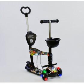 Трехколесный самокат Best Scooter 5 в 1 print 34760 черный
