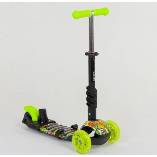 Трехколесный самокат Best Scooter 5 в 1 Ladybag print 55945 салатовый