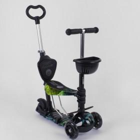 Трехколесный самокат Best Scooter 5 в 1 print 10999 черный
