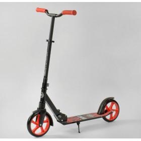 Двоколісний самокат Best Scooter WOLF 52738(амортизатор) чорно-червоний