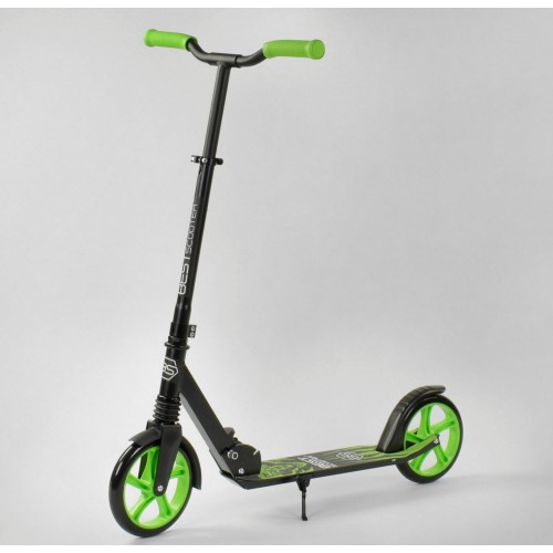 Двухколесный самокат Best Scooter складной с цветными колесами 90869, Зеленый