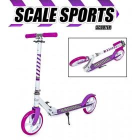Двухколесный самокат Scale Sports 460 бело-фиолетовый