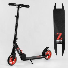 Двоколісний самокат Best Scooter 21120, 1 амортизатор, колеса 145 мм, чорно-червоний