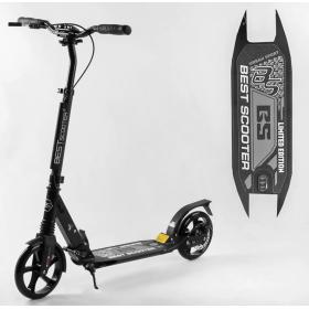Двухколесный самокат Best scooter urban sport, дисковый тормоз, черный