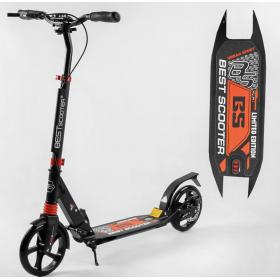 Двухколесный самокат Best scooter urban sport, дисковый тормоз, черно-красный
