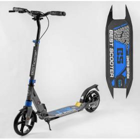 Двухколесный самокат Best scooter urban sport, дисковый тормоз, черно-синий