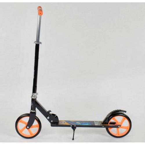 Двухколесный самокат Best Scooter складной механизм 42714 черно-оранжевый