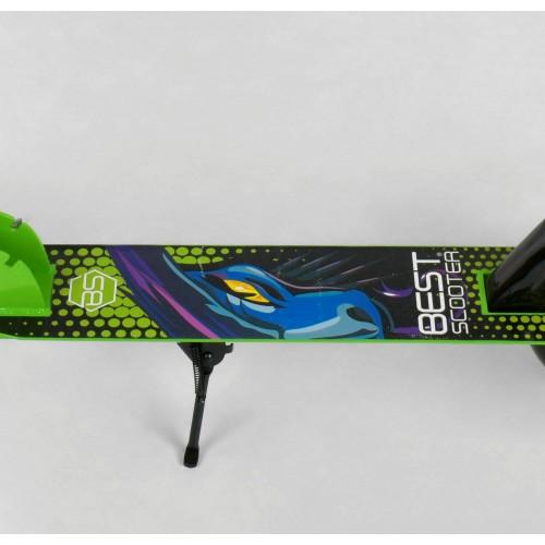 Двухколесный самокат Best Scooter складной механизм 53396 салатовый