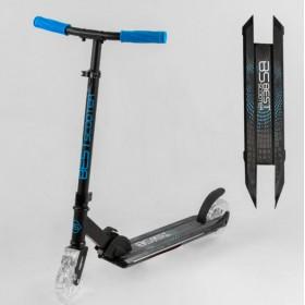 Самокат двухколесный Best Scooter Light со светящимися колесами и декой, синий