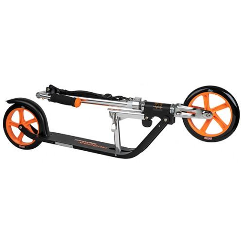 Двухколесный самокат Hudora Big Wheel 205 черно-оранжевый