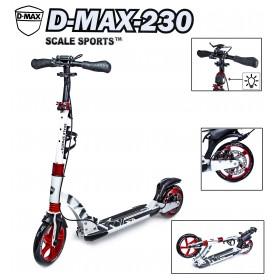 Двухколесный самокат Scale Sports D-MAX-230 с дисковым тормозом, белый