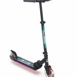 Двоколісний самокат Neon Flash платформа і колеса з підсвіткою зелений