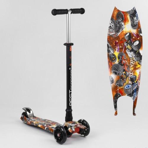 Триколісний самокат Best Scooter Maxi Graffiti 1537 2021 NEW помаранчевий