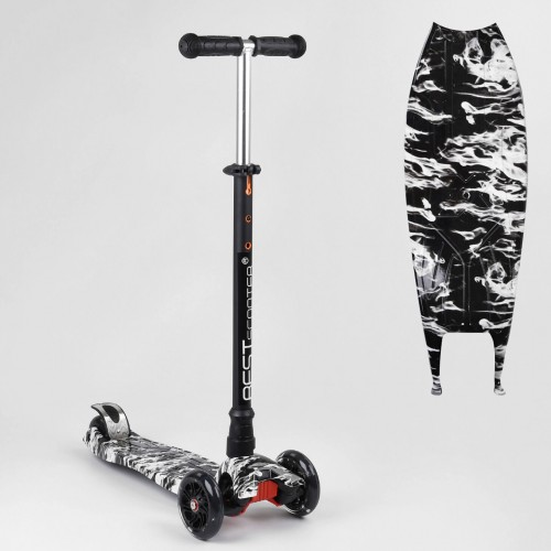 Триколісний самокат Best Scooter Maxi Graffiti 1512 2021 NEW чорний
