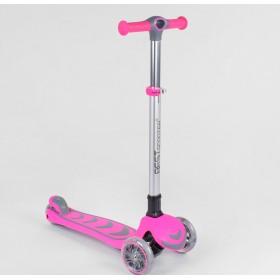 Трехколесный самокат Best Scooter усиленный, складной 557795, розовый