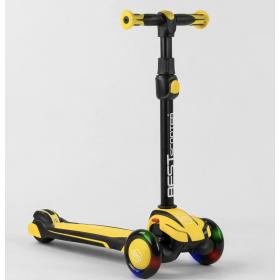 Самокат триколісний Best Scooter MX-80204, алюмінієве кермо, жовтий