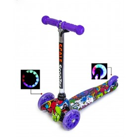 Трехколесный самокат Scooter Mini Best Print Graffity Violet