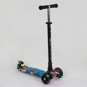 Триколісний самокат Best Scooter Maxi Graffiti 1334 2020 New блакитний