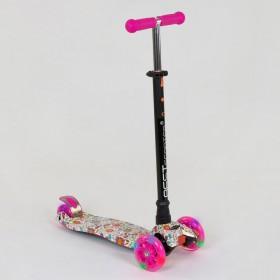 Триколісний самокат Best Scooter Maxi Graffiti Flower-1 1321 рожевий