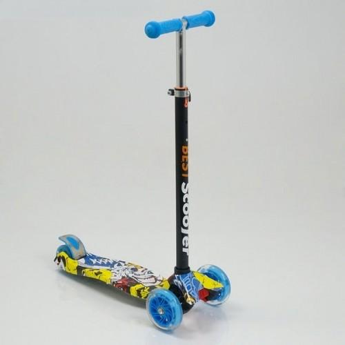Триколісний самокат Best Scooter Maxi Graffiti 1392 блакитний