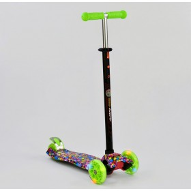 Трехколесный самокат Best Scooter Maxi Graffiti 1316 2020 New зеленый
