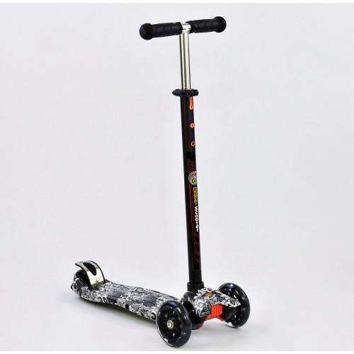 Триколісний самокат Best Scooter Maxi Graffiti 1320 2020 Newчорний