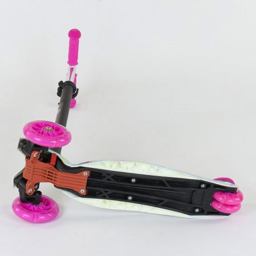 Триколісний самокат Best Scooter Maxi Graffiti 1328 2020 New рожевий