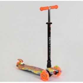 Триколісний самокат Best Scooter Maxi Graffiti 13402020 Newпомаранчевий
