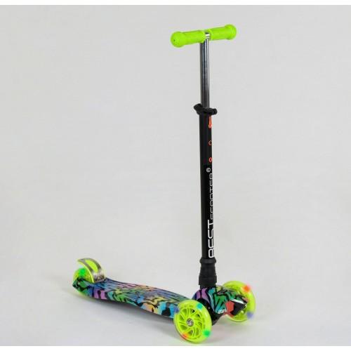 Триколісний самокат Best Scooter Maxi Graffiti 1342 2020Newзелений