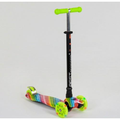 Триколісний самокат Best Scooter Maxi Graffiti 1335 2020 New зелений