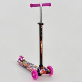 Триколісний самокат Best Scooter Maxi Graffiti 1395 рожевий