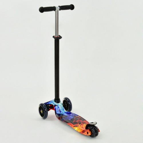 Триколісний самокат Best Scooter Maxi Print 1314 Fire