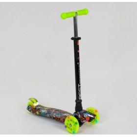 Триколісний самокат Best Scooter Maxi Graffiti 1325 2020 New салатовий