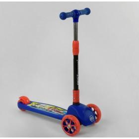 Трехколесный самокат Best Scooter подсветка колес и дисков 27043, синий