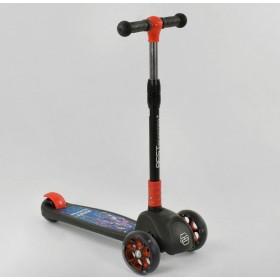 Трехколесный самокат Best Scooter подсветка колес и дисков 20157, черный