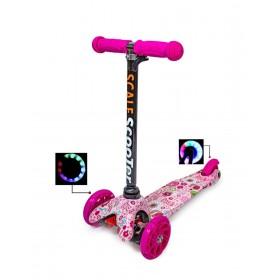 Трехколесный самокат Scooter Mini Best Pink Zoo