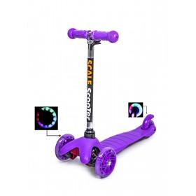 Трехколесный самокат Scooter micro mini best фиолетовый