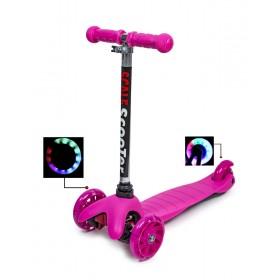 Трехколесный самокат Scooter micro mini best розовый